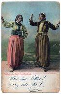 CPA    SALUT DE CONSTANTINOPLE   BOHEMIENNES DANSANT LA NATIONALE - Turchia