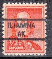 USA Precancel Vorausentwertung Preo, Locals Alaska, Iliamna 835,5 - Etats-Unis