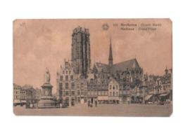 Vintage Postcard - Grote Markt ( Main Market Square ) Grand Place At Mechelen ( Mechlin), Belgium, Lot # ETS 850 - Malines
