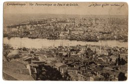 CPA   CONSTANTINOPLE     1919     VUE PANORAMIQUE DE PERA ET GALATA - Turchia