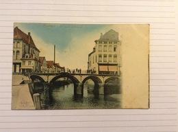 +postkaart, Mechelen De Gotische Brug, Gelopen 1906, Zegel 1 Cent Nr, 53 - Malines
