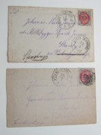 1892 , 2 Briefe , 1 Mal Nach Deutschland Nachgeschickt - 1864-04 (Christian IX)