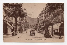 - CPA TOULON (83) - Avenue Colbert 1923 (belle Animation) - Edition B. C. 172 - - Toulon