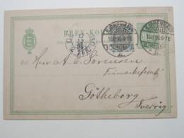 1896 , Ganzsache  Nach Schweden - 1864-04 (Christian IX)