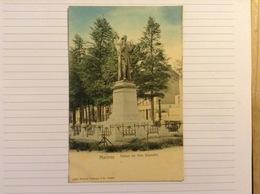+postkaart, Mechelen Statue De Van Beneden, Gelopen 1906, Zegel 1 Cent Nr, 53 - Malines