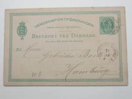 1881 , Ganzsache  Mit Bahnpoststempel - Briefe U. Dokumente