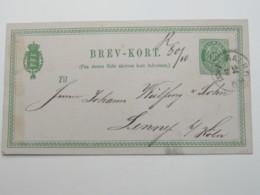 1877 , Ganzsache  Aus AALBORG Nach Deutschland - Briefe U. Dokumente