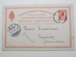 1907 , Ganzsache Nach Deutschland - Denmark (West Indies)
