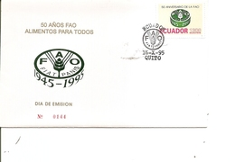 Contre La Faim ( FDC De L'Equateur De 1995 à Voir) - Contro La Fame