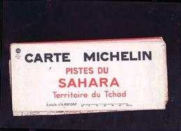Carte Michelin Des Pistes Du Sahara ,territoire Du Tchad - Wegenkaarten