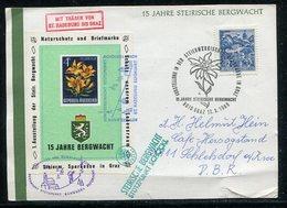 """Oesterreich / 1969 / Sonderbeleg """"15 Jahre Steirische Bergwacht"""", Vignette (1/755) - 1945-.... 2. Republik"""