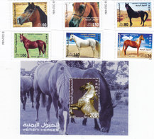 Yemen Rep. 2009 Horses 6v. + 1.sheet - MNH Compl.set- Nice Scarce Topical - Red. Price- SKRILL PAY ONLY - Yemen