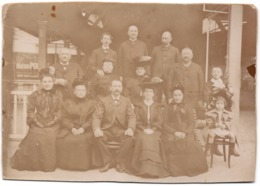 Briançon C.1890 Famille De L Hôtel De La Paix Photo Gde Sur Carton 2 Scans - Anciennes (Av. 1900)