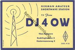 QSL - Funkkarte - DJ4OW - Recklinghausen - 1959 - Amateurfunk