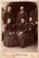 Paris C.1890 Famille De L Hôtel De La Paix Briançon Photo Gd Cdv - 2 Scans - Anciennes (Av. 1900)