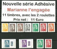 Adhésif Série Complète Marianne L'Engagée 2018 - France