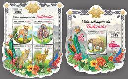 MOZAMBIQUE 2018 - Thailand Fauna, M/S + S/S. Official Issue - Mozambique