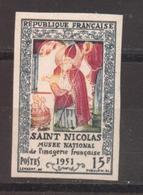 Saint-Nicolas YT 904 De 1951 Sans Trace De Charnière Tirage 325 Exemplaires - France