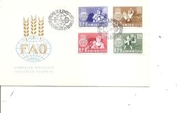 Contre La Faim ( FDC De Roumanie De 1963 à Voir) - Contro La Fame