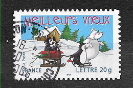 FRANCE 3853 Adhésif 67 Vœux Manchot Ours - France