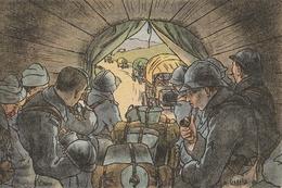 MILITARIA - Dessin De GABARD - L'Auto - Regiments