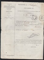 Ville De Vire ( Calvados)  Patente D'un Boulanger , Rue Du Pont - Année 1845 - - Documents Historiques