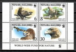Macedonia 2001 / Birds WWF MNH Aves Vögel Oiseaux / Cu10419  40 - Birds