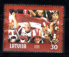 Letland 2004 Mi Nr 610 , Ijshockey Fans,  Ice Hockey - Letland