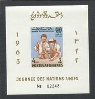 AFGHANISTAN AFGANISTAN AFGHAN POST 1963 ONU UN DAY JOURNEE DES NATIONS UNIES BLOC FEUILLET BLOCK SHEET IMPERF. MNH - Afghanistan