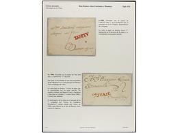 ARGENTINA. PERÍODO COLONIAL. Colección De 28 Cartas Destacando Las Dos Primeras De BUENOS AIRES, La Rarísima De YAPEYU,  - Briefmarken