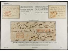 COLOMBIA. PERÍODO COLONIAL E INDEPENDIENTE. Colección De 116  Cartas En La Que Destacan SANTA FE FRANCA 1776 (única Cono - Briefmarken