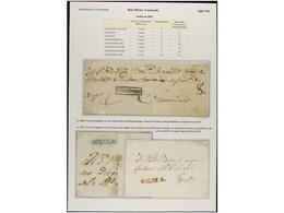 GUATEMALA. CHIAPAS. PERÍODO COLONIAL E INDEPENDIENTE. Colección De 49 Cartas O Frontales Con Diversas Marcas, Muchas De  - Briefmarken