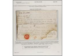 MEXICO. PERÍODO COLONIAL. Conjunto De 18 Cartas O Frontales. Destacando Las Marcas De DURANGO (nº 1) E INTENDENCIA DE MÉ - Briefmarken