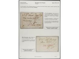 PARAGUAY. PERÍODO COLONIAL. Extraordinario Conjunto Formado Por Diez Cartas Del Período Colonial Español Y Una De Asunci - Briefmarken