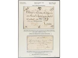 PERU. PERÍODO COLONIAL. Colección Compuesta Por 156 Cartas. Destacando A Parte De Varias CERTIFICACIONES A LIMA, Las Car - Briefmarken