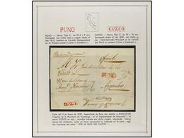 PERU. PERÍODO INDEPENDIENTE. Colección Compuesta Por Más De 250 Cartas Con Diversas Marcas, Muchas De Ellas De Gran Rare - Unclassified