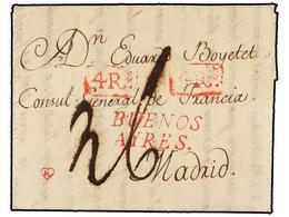 ARGENTINA. 1779 (6 Agosto). BUENOS AIRES A MADRID. Carta Completa Con Texto Haciendo Mención Del Territorio De Misiones  - Stamps