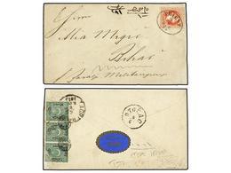 BOSNIA-HERZEGOVINA. Mi.14. 1873 (June 7). Cover To 'BIHAC, MILITARGRENZE' (Bosnia) Franked By 1867/74 5kr. Red Tied By O - Briefmarken