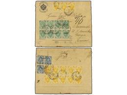 BOSNIA-HERZEGOVINA. Mi.2/I+3/I+5/I. 1888 (Sept. 25). Printed Registered Envelope (1kr.), Sent To GEORGIA (USA), Franked  - Briefmarken