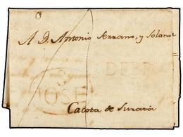 COLOMBIA. 1801 (6 Enero). SAN JOSE DE CUCUTA A CACOTA DE SUNAIA. Carta Completa Con Texto, Marca S. JOSE ... DE CUCUTA Y - Unclassified