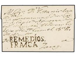 COLOMBIA. (1820 CA.). Envuelta Circulada A ZARAGOZA Dirigida Al 'Sr. Estanislao Bautista Lorenzana, Ministro Del Tesoro  - Unclassified