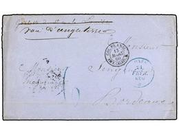 GUINEA FRANCESA. 1859. RIO PONGO To FRANCE. Entiere Letter Send By British Ship Via Senegal, Blue GOREE/* Datestamps On  - Sellos