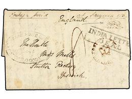 CABO DE BUENA ESPERANZA. 1843. PORTLAND KYNSNA To IPSWICH. Entiere Letter With POST OFFICE/GEORGE Crown Circular Handsta - Briefmarken