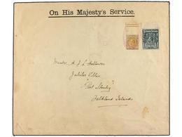 FALKLAND. 1923. DECEPTION ISLAND (South Shetlands) To PORT STANLEY (Falkland Islands). Large O.H.M.S. Envelope Franked W - Unclassified