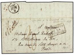 MALTA. 1838. Stampless Envelope Addressed To PARIS Written From 'La Hauteur De Stromboli' At Malta With Manuscript  'MAL - Unclassified