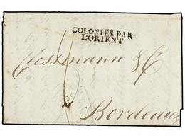 MAURICIO. 1802 (December 11). PORT NORD OUEST To BORDEAUX. Entire Letter With COLONIES PAR/L'ORIENT Entry Mark (salles 5 - Unclassified