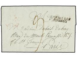 MAURICIO. 1809 (Mars 2). ILE DE FRANCE. PORT NAPOLEON To PARIS. Entire Letter With COLONIES PAR/BORDEAUX Entry Mark (Sal - Unclassified