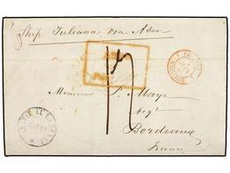 MAURICIO. 1846. MAURICE A FRANCIA. Carta Completa Circulada 'Ship Juliana Via Aden'. Al Dorso Fechador MAURITIUS/POST OF - Unclassified