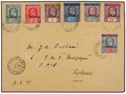 NUEVAS HEBRIDAS. Sg.1/2, 5/9. 1909. PORT SANDWICH To SYDNEY. Nice Frankings Including The Rare 1 Sh. Green Wm. Single Cr - Unclassified