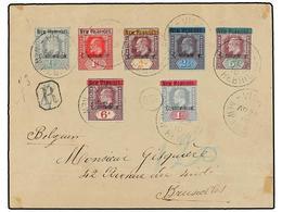NUEVAS HEBRIDAS. Sg.1/3, 5/8. 1910. VILA To BRUXELLES (Belgium). Nice Franking. Arrival On Reverse. - Unclassified